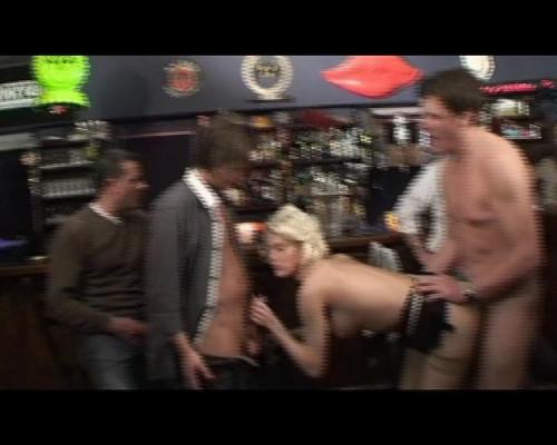Sweet blondie gangbanged Public Sex