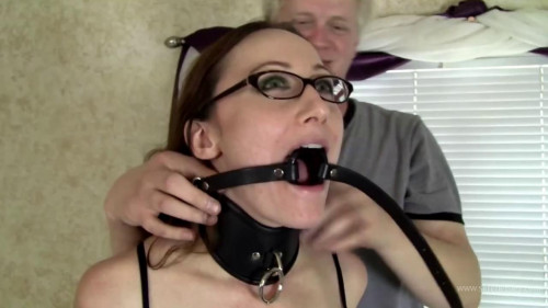 Crystal Clark - Leather Bound, Nipple Clamps, and Multiple Gags