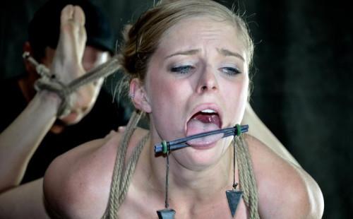 Girl next door in a Cat 5 Hogtied breast suspension , Penny Pax , HD 720p
