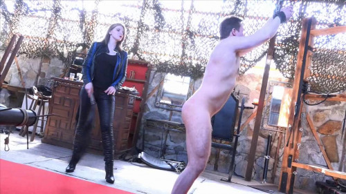Mistress Cleo - Flogged And Belted By The Biker Lady Femdom and Strapon