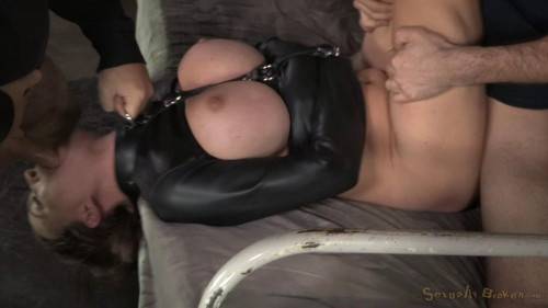 Krissy Lynn's Booming Breasts And Butt Straightjacketed BDSM