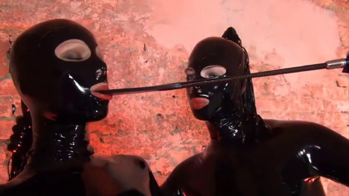 Super tying, domination and spanking for hawt cuties in latex Full HD 1080p