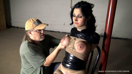 Bondage, encasement and ache for sexy floozy part 1