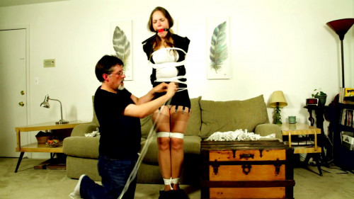 rachel roped BDSM