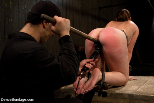Made to suffer, made to cum - restrictive bondage equals squirting orgasm BDSM