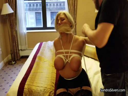 Sandra Silvers - Gagged and Groped. Breasts Bound