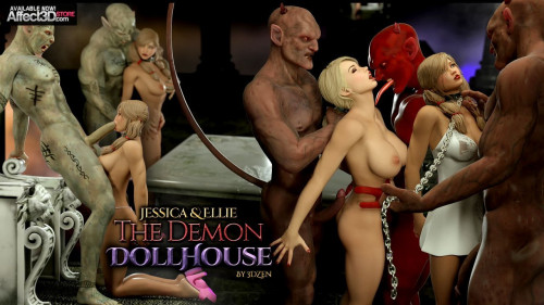 Jessica and Ellie Demon Doll House Comics