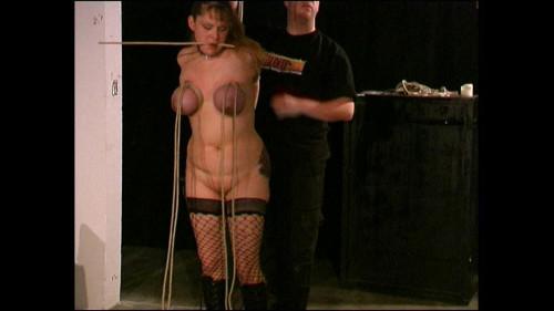 Fetish Model Lexa Lane endures heavy Tit Punishment Part 1 - Cam1