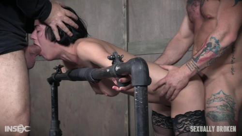 Sexy Olive Glass is treated to the full Sexually Broken treatment and its brutal