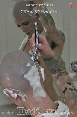 Sensual Hot Bath and Head Shave - Abigail Dupree