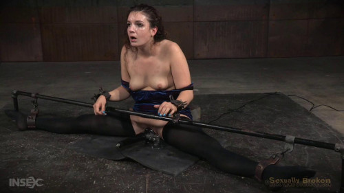 Bound into the splits and facefucked-rough bdsm porn
