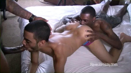 Barebacking fuck with massive darksome meat