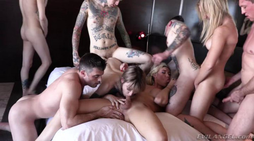Aubrey Kate + 8: TS Orgy With DAP Shemale