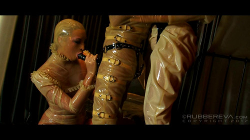 Rubber trio BDSM Latex