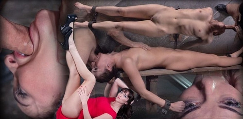 Bianca Breeze Shackled Down And Throatboarded