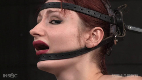 While Firmly Bound In The Blowjob Machine! - Violet Monroe - HD 720p