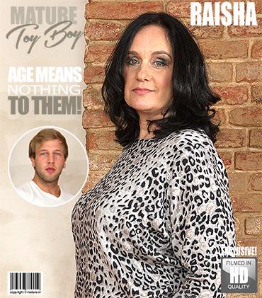 Raisha E. (50) - big breasted housewife doing her toyboy FullHD 1080p