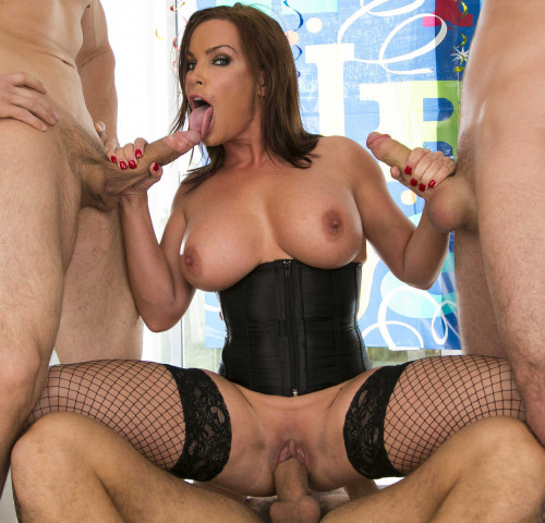 Playful Milf Can Handle A Triple Cock Stuffing In All Her Holes
