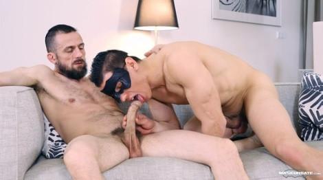 Hot boy wearing a mask