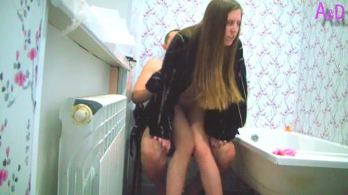 Bathroom rough sex