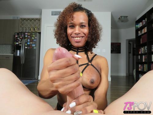 Exotic Trans Latina Gets Glazed Shemale