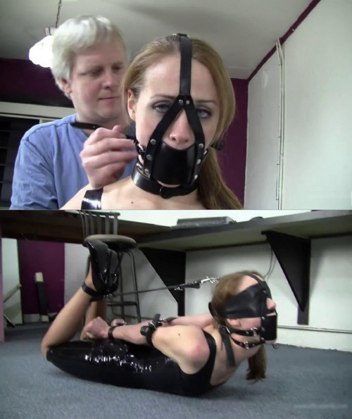 Super bondage, domination and hogtie for beautiful young girl BDSM Latex