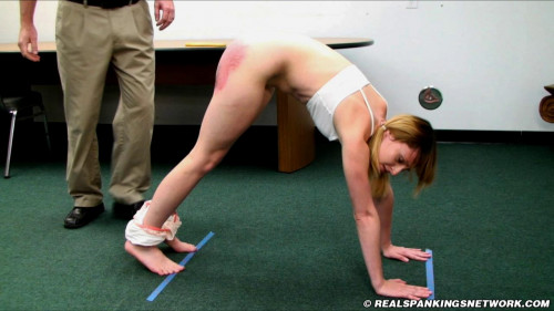 Mable Paddled in the Lunge Position BDSM
