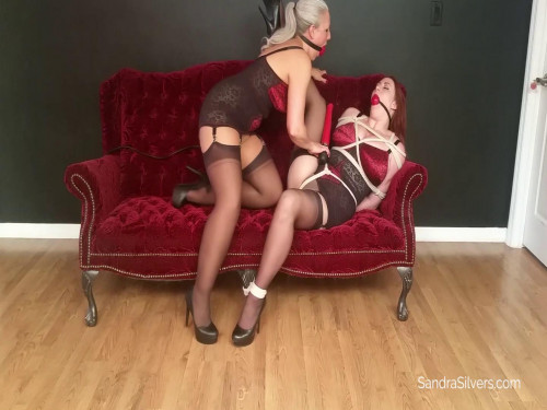 Girdle MOTHER ID LIKE TO FUCK Slave-Girl Punished with Bound Orgasms