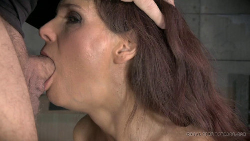 RTB - Sexy Busty Milf shackled down with epic rough deepthroat