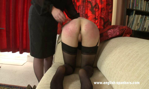 English-spankers - (spr-767) - Suzanne has overspent on her credit cards