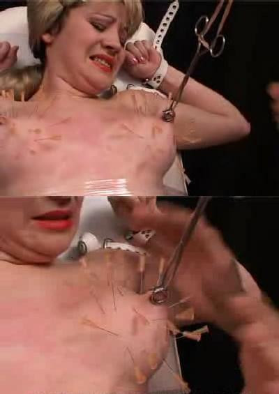 Needle pierce the boobs