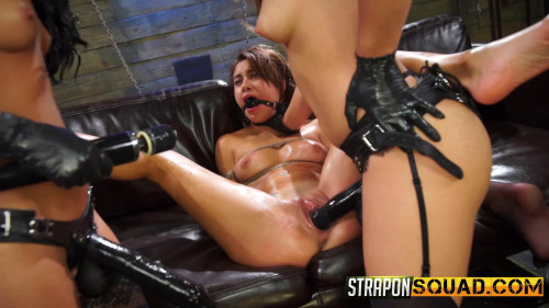 StrapOnSquad Marina Angel Loves Lesbian Double Penetration with Esmi Lee and Abella Danger BDSM