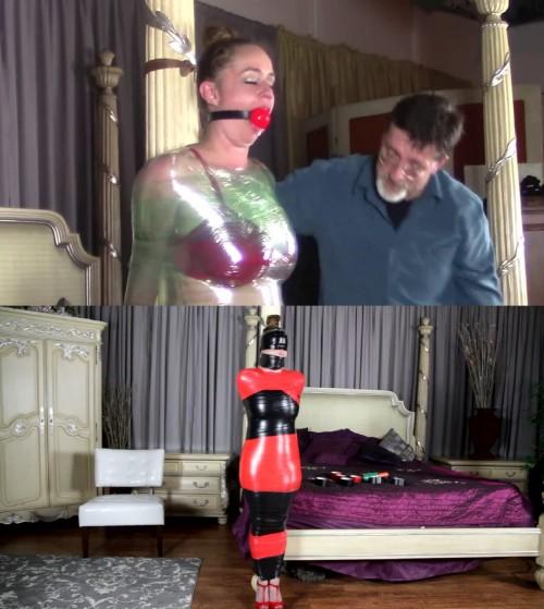 Tight bondage, domination and mummification for very hot girl