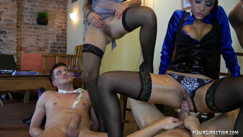 Pretty Hotties Get Seriously Dicked And Pissed Peeing