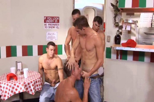 Pizza Boy Gangbang Gay Movie