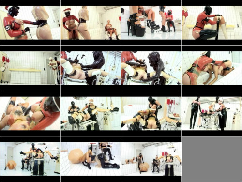 People in latex in the white room BDSM Latex