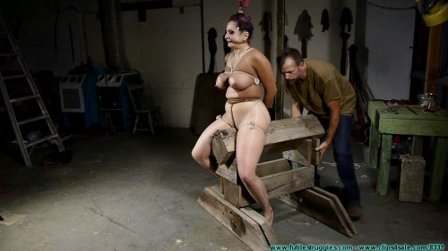 Gia Love Rides the  While Bound in Nylons - Part 2