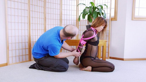Sheer Catsuit Hogtie BDSM