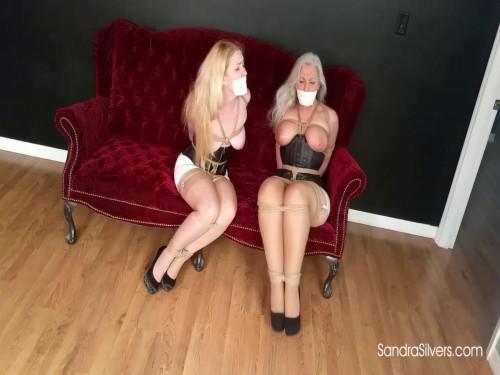 Kissing Lesbian Bondage Dream Turns into Damsel Distress Reality! (2017)