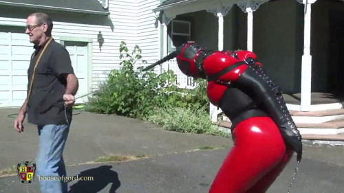 Super tying, domination and spanking for hawt hotty in latex Full HD 1080p