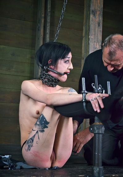 Wild woman in BDSM
