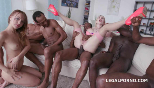 Interracial gangbang with black busters