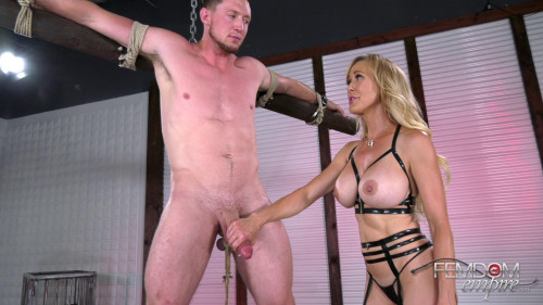 Edging Restraints Femdom and Strapon