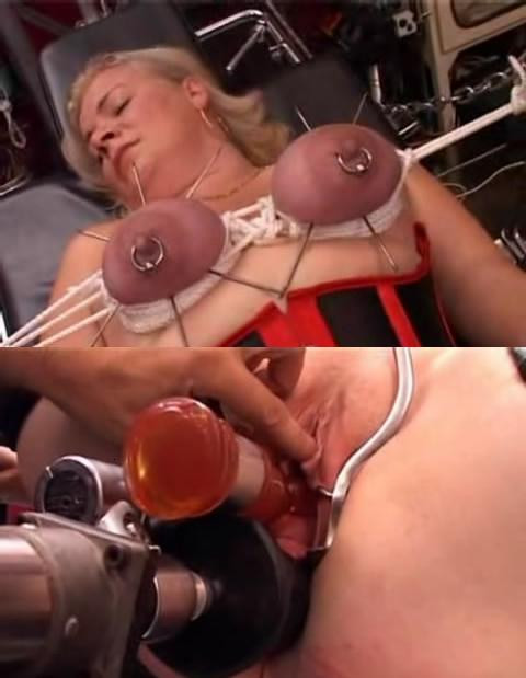 large needles in boobs - very hot video