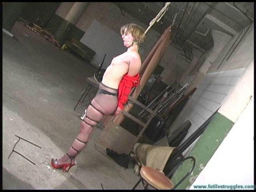 Secretary Punished with Tight zip ties and Fishing line - Eden - Part 2 BDSM