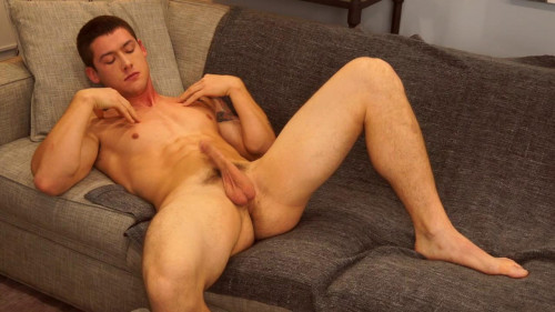 RandyBlue - Greg Jameson shows off his raging hard cock Gay Solo