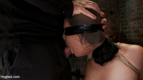 Ashli has her huge puffy nipples tortured, is made to cum & skull fucked Takes a great body flogging BDSM