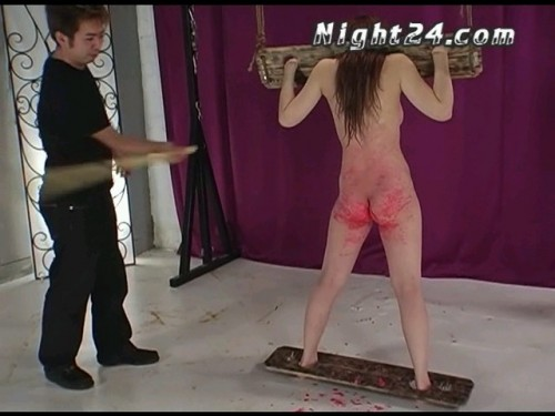 Wax punishment and cruel slap