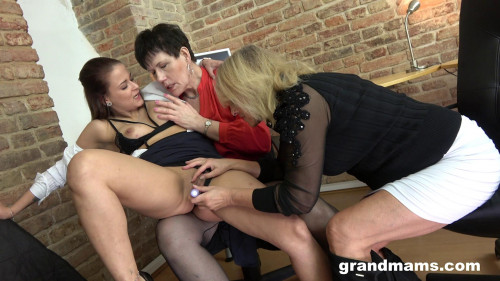 A Lesbian Threesome In The Bosses Office Lesbian