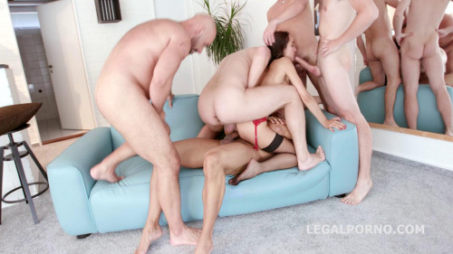 8on2 Brutal Gangbang With Perfect Babes Interracial